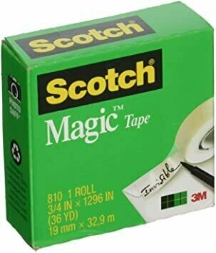 "Tape Scotch Magic 810 3/4"" x 27 yds. [Docena]"