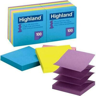 "Self-Stick Pads, Highland 3 x 3"", Bright Colors"
