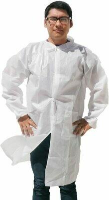 Disposable Lab Coat Large White