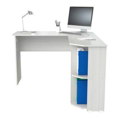 """L"" Shaped Writing Desk Washed Oak"