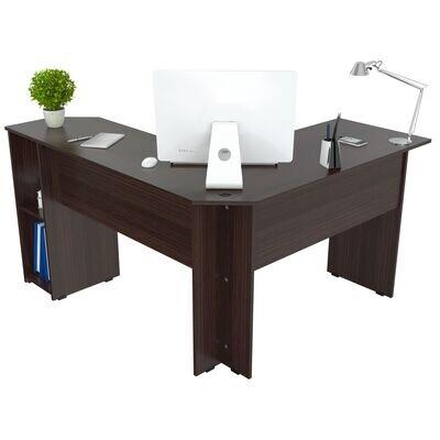 """L"" Shaped Writing Desk Espresso"