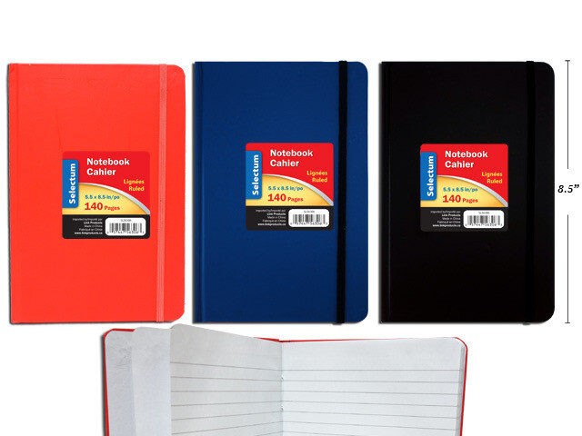 """Notebook 140 Ruled Pages, 5.5""""x 8.5"""" Asst Colors"""