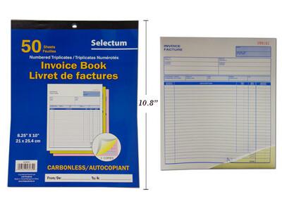 Tri Carbonless Invoice  Book
