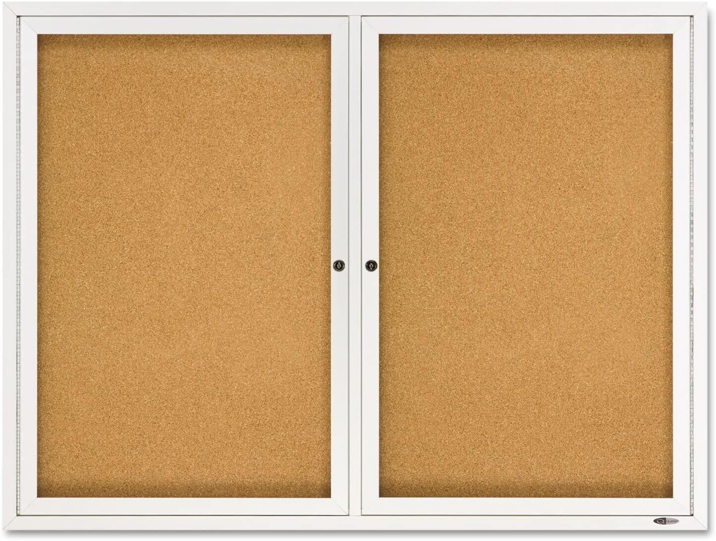 Quartet Cork Enclosed Board, Aluminum Frame, 3'H x 4'W (2364)