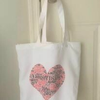 TVD Heart Tote Bag