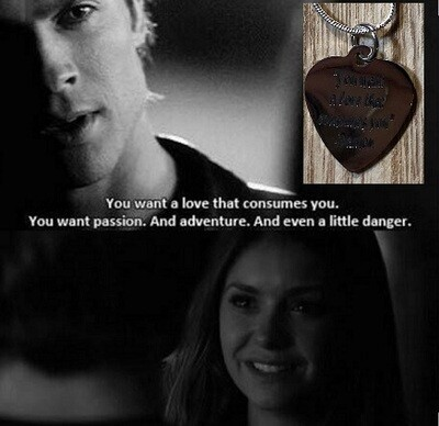 Damon Quote Necklace