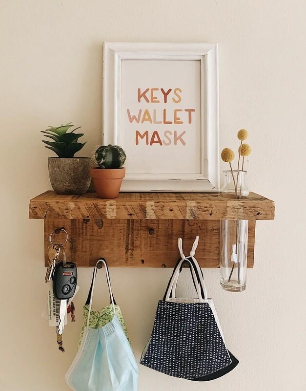 Keys Wallet Mask Print