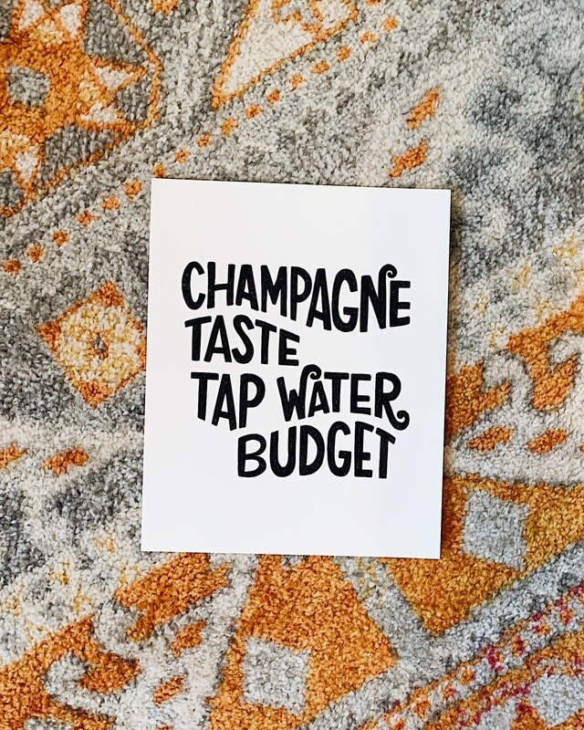 Champagne Taste Print