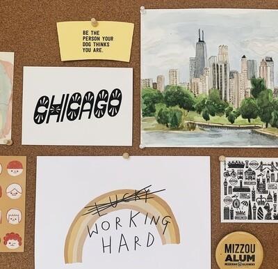 Chicago Lettering Print