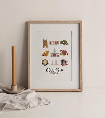Columbia, MO Print