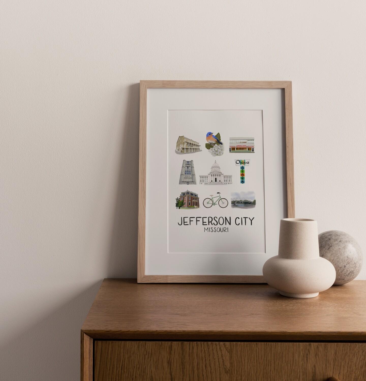 Jefferson City, MO Print