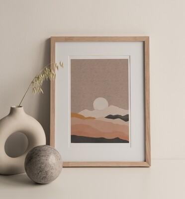 Rose Mountains Print