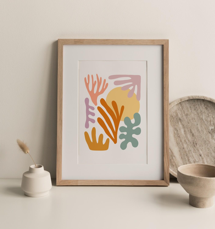 Seagrass and Sun Print