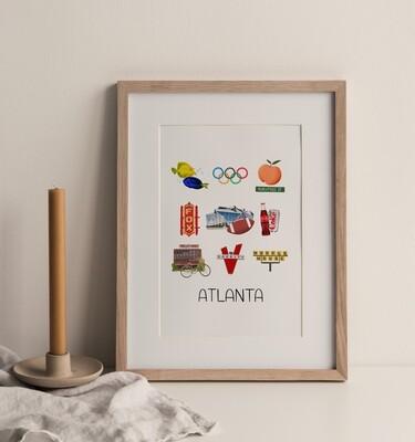 Atlanta, GA Print