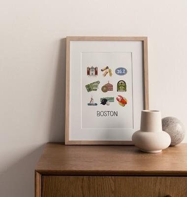 Boston, MA Print