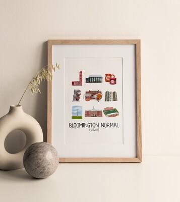 Bloomington Normal Print