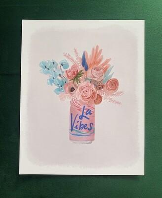 La Vibes Cran-Raspberry Art Print