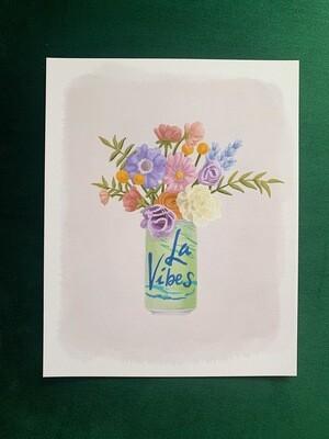 La Vibes Lime Art Print