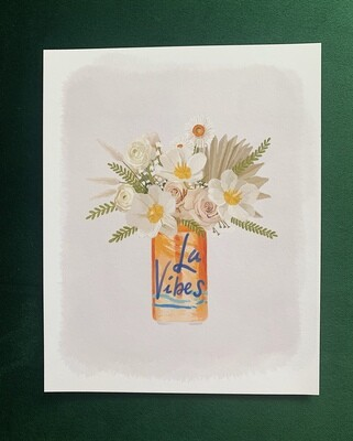 La Vibes Orange Art Print
