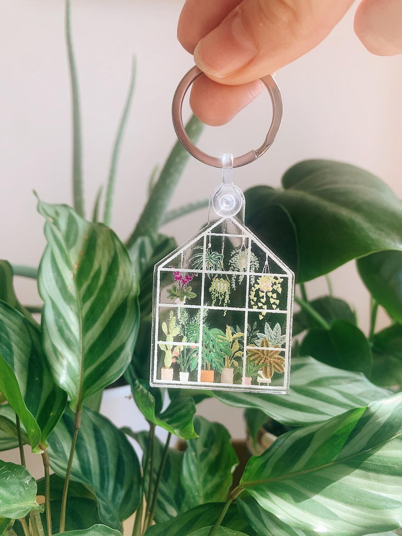 Greenhouse Acrylic Keychain