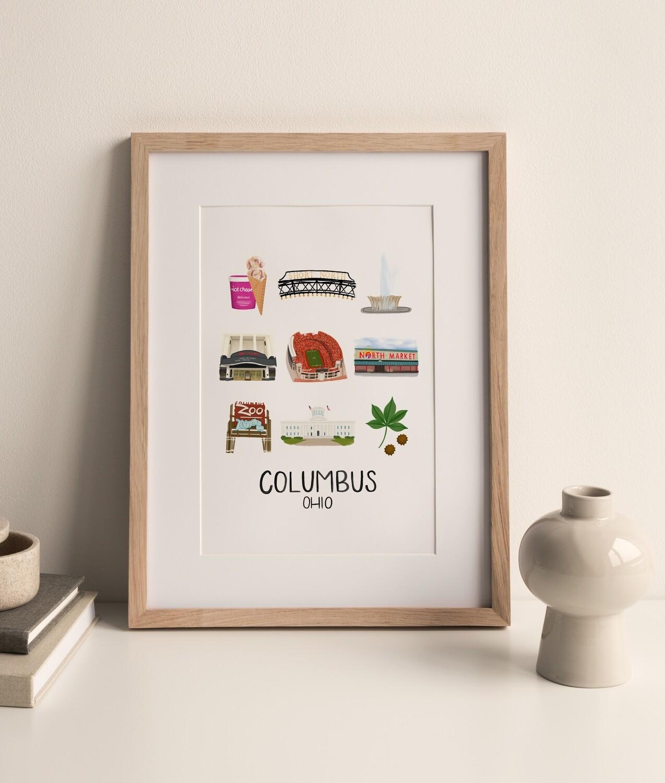 Columbus, Ohio Print