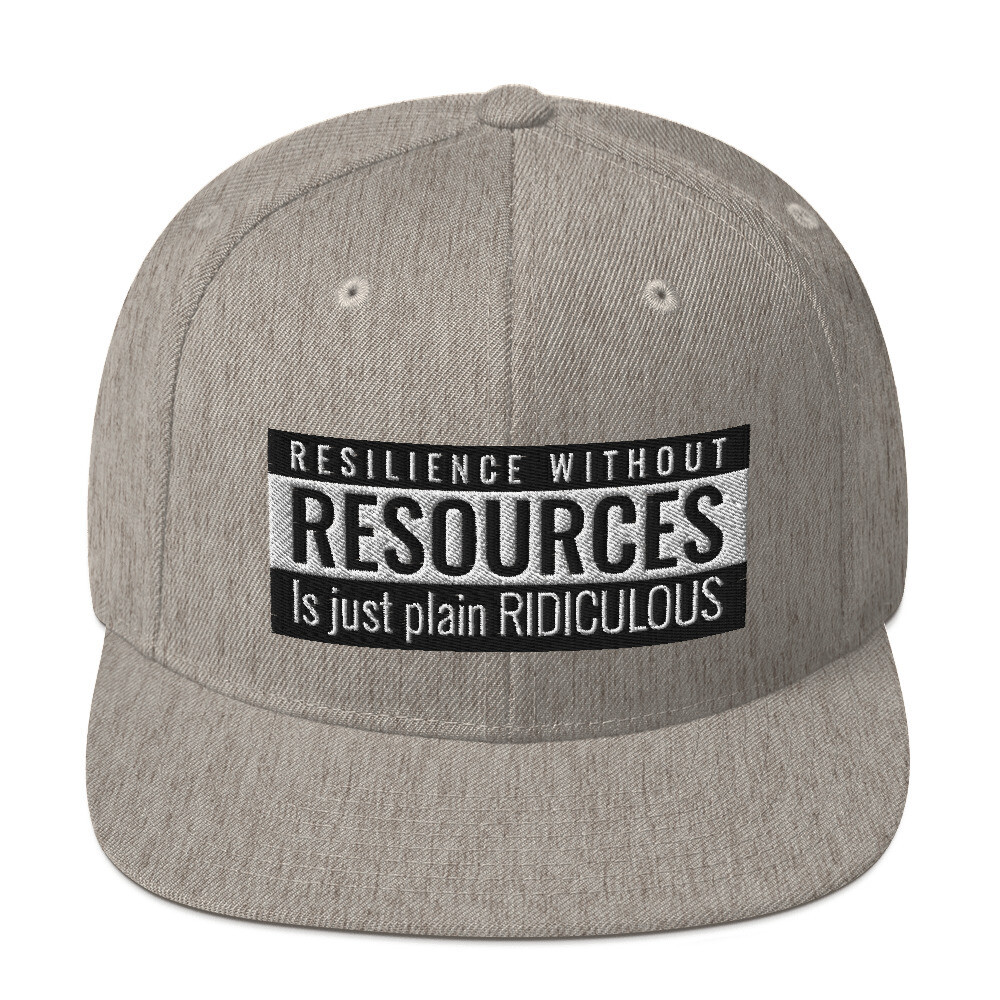 Snapback Cap- Resilience without Resources