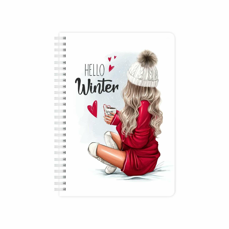 Планер Еженедельник с обложкой «Hello, Winter»