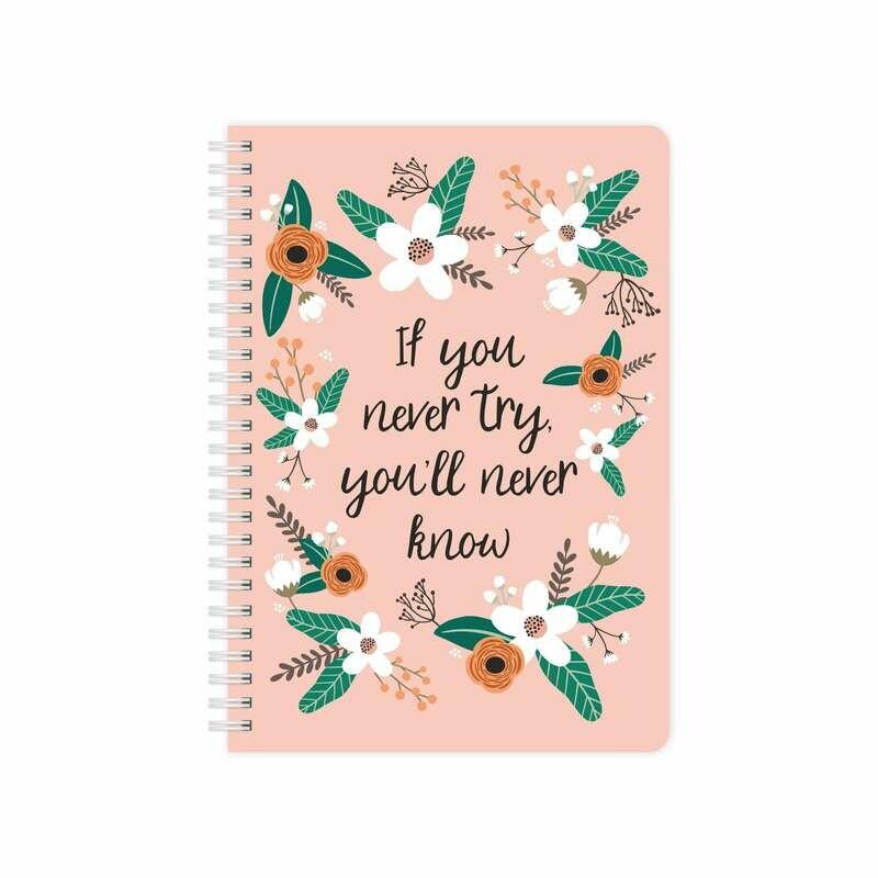 Купить Smart-планер с обложкой Flat flowers pink