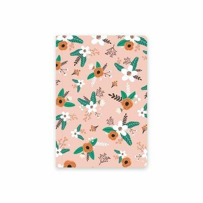 Планер Еженедельник тетрадь с обложкой «Flat flowers pink»