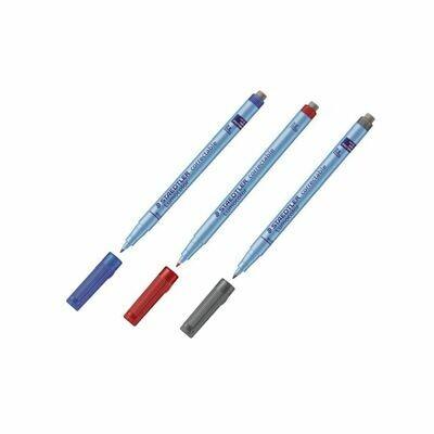 Набор цветных маркеров Staedtler Lumocolor (3шт)