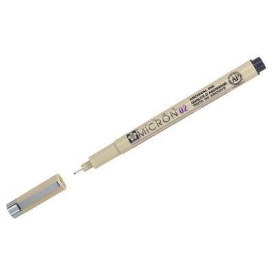 Ручка-линер капиллярная Sakura Pigma Micron 0.25мм, черные чернила