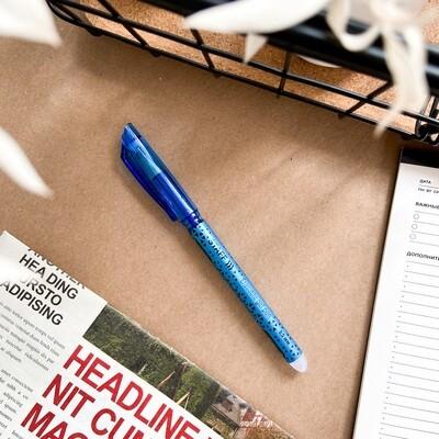 Ручка гелевая со стираемыми синими чернилами