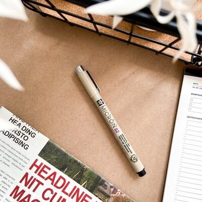 Ручка капиллярная Sakura Pigma Micron 0.25мм, черные чернила