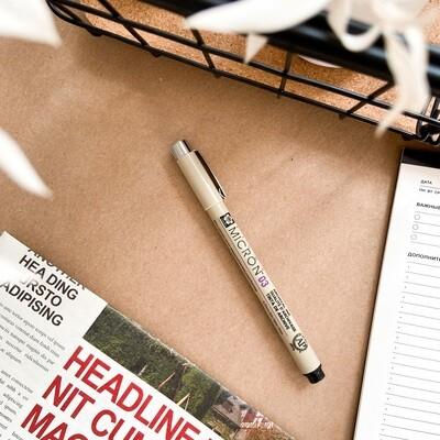 Ручка капиллярная Sakura Pigma Micron 0.35мм, черные чернила