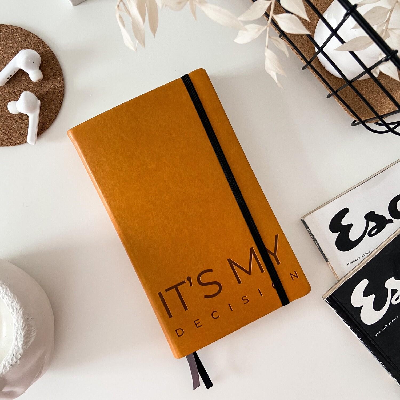 Оранжевый ежедневник Aesthetic B6+