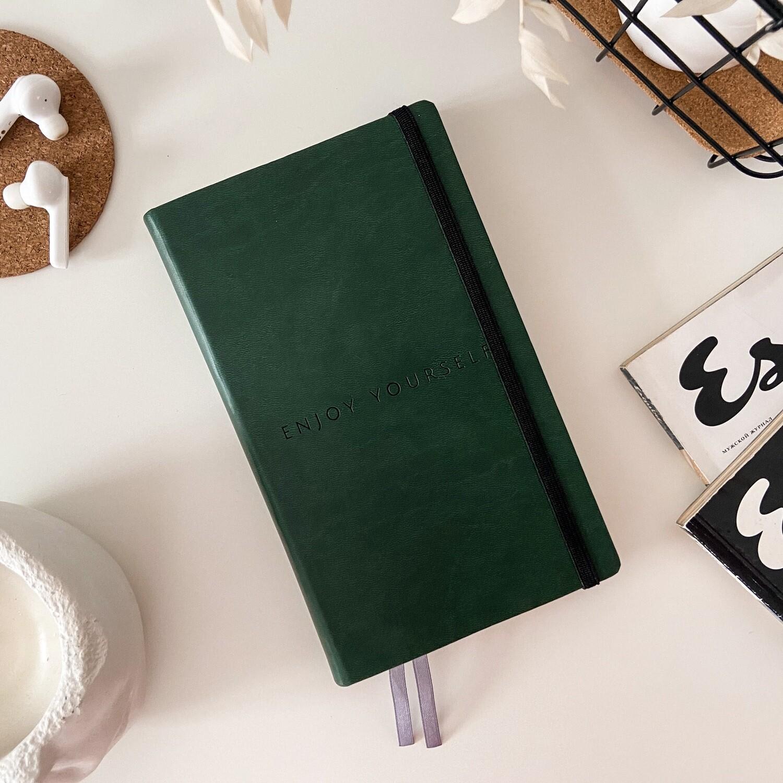 Зелёный ежедневник Aesthetic B6+