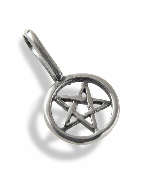 Recycled Sterling Silver Pentagram Pendant Handmade