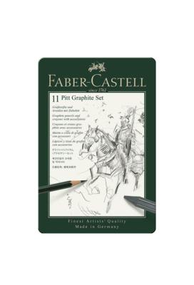 FABER CASTELL 11 PITT GRAPHITE SET PACK CRAYONS CRAIES GRAPHITE ART DESSIN ARTISTE DRAW 4005401129721 COMASOUND KARTEL