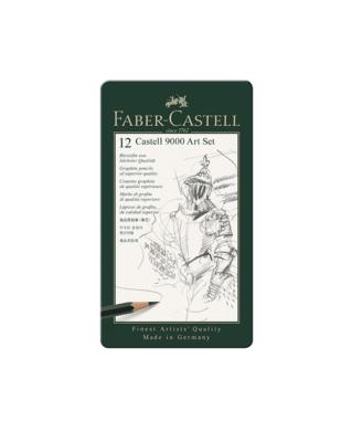 FABER CASTELL 12 CASTELL 9000 ART SET CRAYONS GRAPHITE PENCILS ART ARTISTE DESSIN DRAW PRO 4005401190653 COMASOUND KARTEL