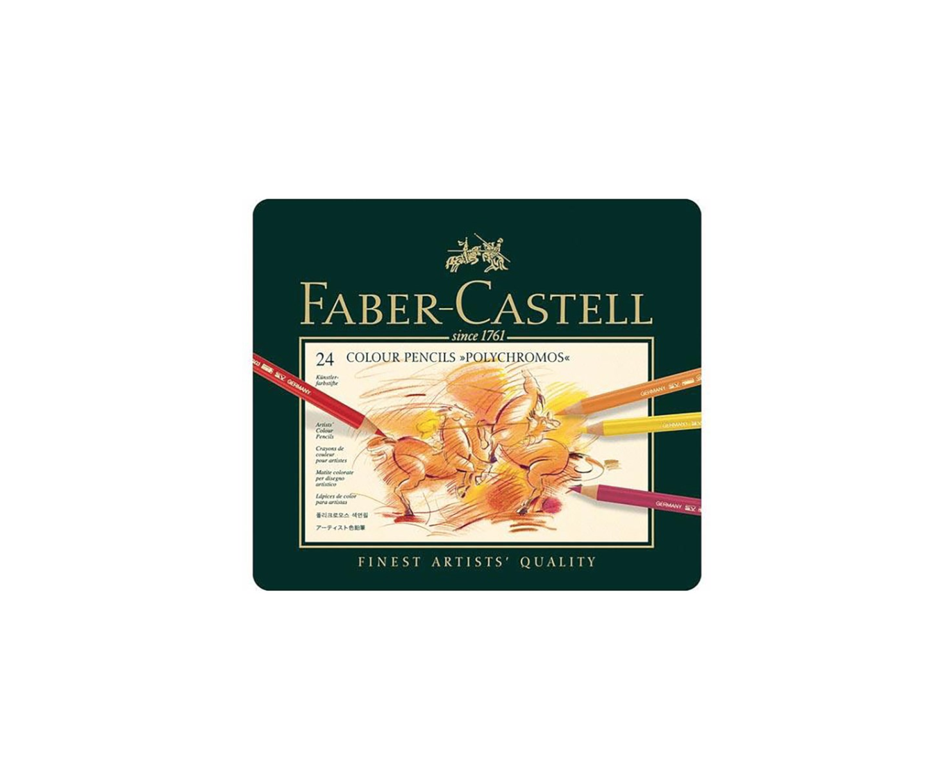 FABER CASTELL X 24 POLYCHROMOS COLOUR PENCILS CRAYON COULEUR ART ARTISTE DESSIN PRO COMASOUND KARTEL 4005401100249