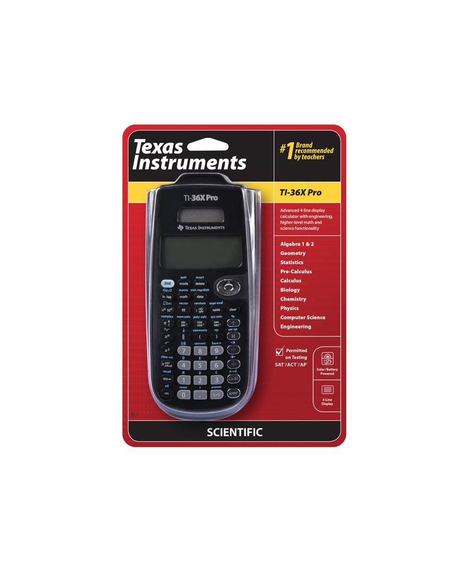 TEXAS INSTRUMENTS TI-36X PRO CALCULATRICE LYCEE CONCOURS SCIENTIFIQUE SCOLAIRE ETUDE 3243480103572 CALCUL COMMERCE COMASOUND KARTEL CSK