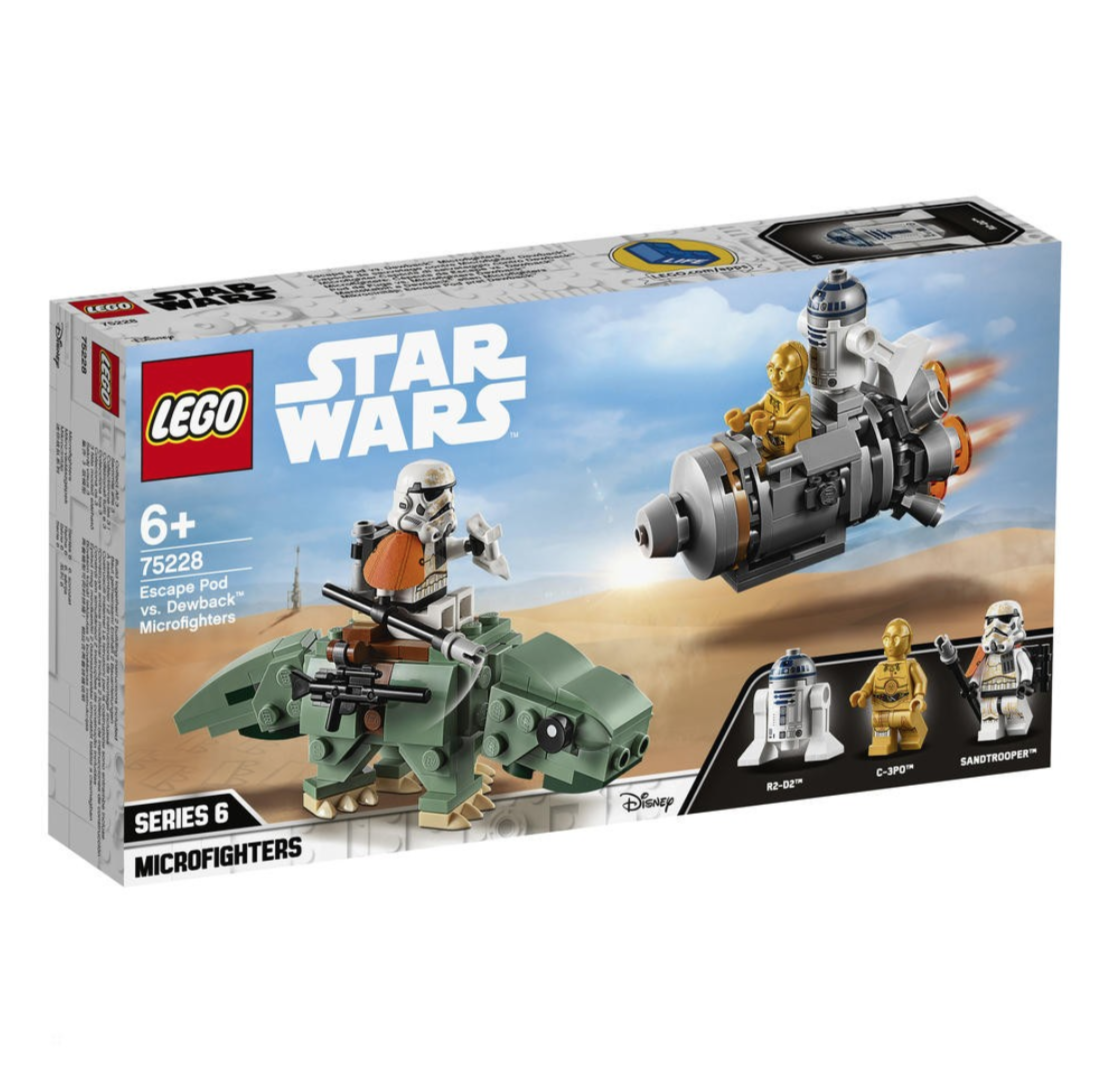 LEGO STAR WARS ESCAPE POD VS DEWBACK MICROFIGHTERS  75228 JOUET JEU JEUX ITEM 6251677 CONSTRUCTION ENFANT NOEL NEUF 5702016370379 COMASOUND KARTEL