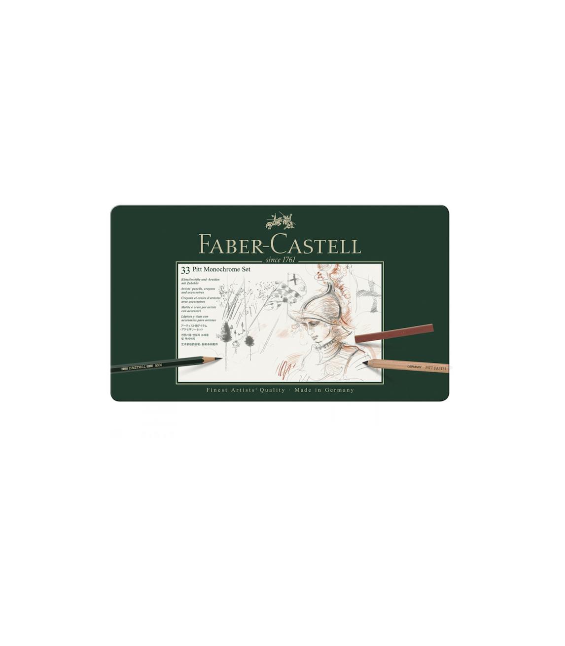 FABER CASTELL 33 PITT MONOCHROME SET PENCILS CRAYON COULEUR ART ARTISTE DESSIN DRAW 4005401129776 COMASOUND KARTEL CSK ONLINE