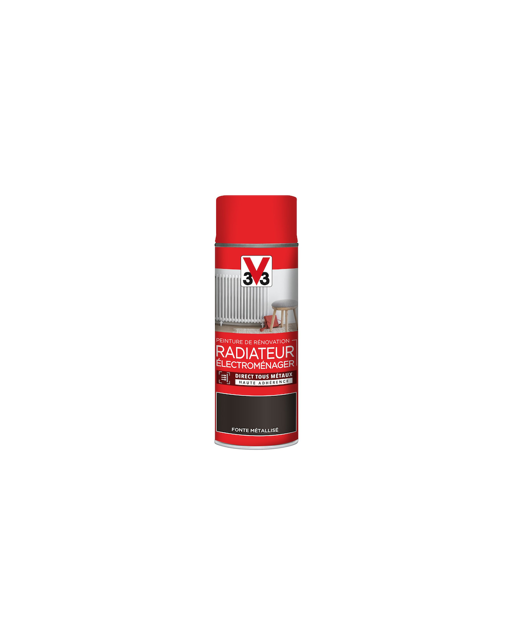 V33 AEROSOL PEINTURE RENOVATION RADIATEUR ELECTROMENAGER FONTE METALLISE SPRAY CAN BOMBE BRICOLAGE DECORATION MAISON 3153895119375 COMASOUND KARTEL CSK ONLINE