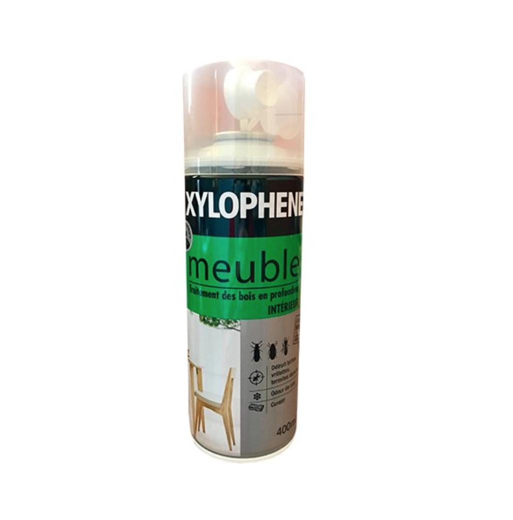 XYLOPHENE MEUBLE SPRAY AEROSOL TRAITEMENT BOIS CURATIF   INTERIEUR 400 ML BOMBE 3261543153531 COMASOUND KARTEL CSK ONLINE