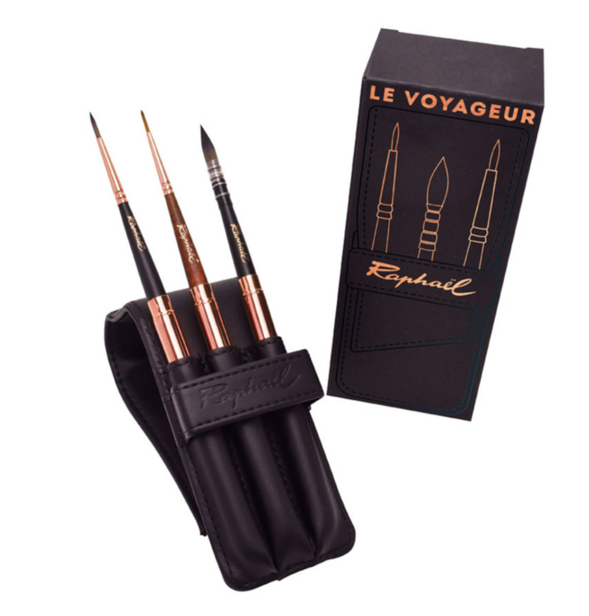RAPHAEL LE VOYAGEUR PINCEAUX SET PACK LOT BRUSH LEATHER CUIR COULEURS AQUARELLABLES ART ARTISTE DESSIN DRAW PRO 3046451875498 COMASOUND KARTEL CSK ONLINE