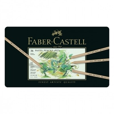 FABER CASTELL 36 PITT PASTEL PENCILS CRAYON COULEUR ART ARTISTE DESSIN DRAW 4005401121367 COMASOUND KARTEL