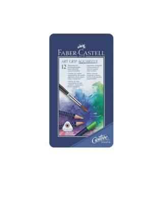 FABER CASTELL X 12 ART GRIP AQUARELLE WATERCOLOUR PENCILS CRAYON COULEUR ART ARTISTE DESSIN PRO COMASOUND KARTEL 4005401142126 CSK ONLINE