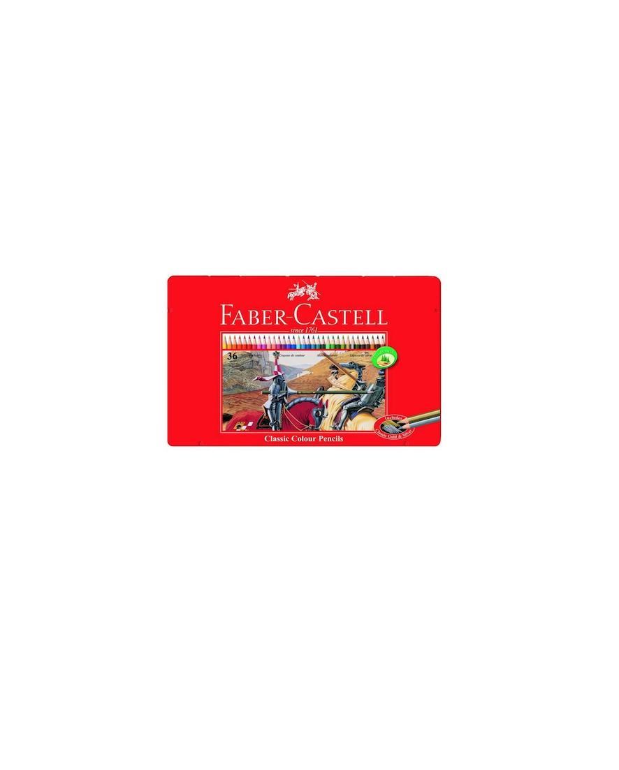 FABER CASTELL 36 CLASSIC COLOUR PENCILS CRAYON COULEUR SCHOOL ECOLE ART ARTISTE DESSIN DRAW 4005401158462 COMASOUND KARTEL CSK ONLINE