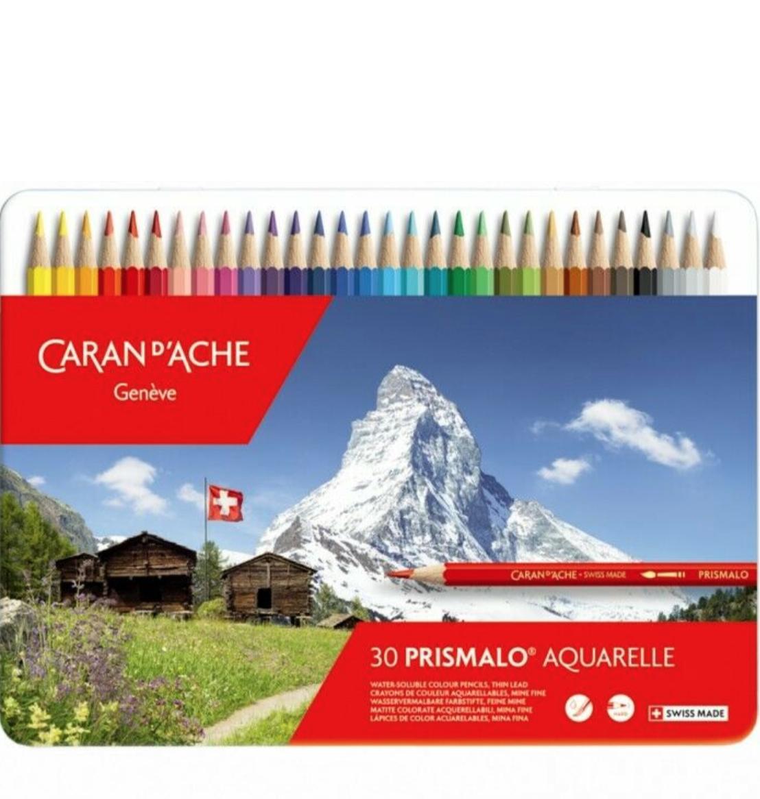 CARAN D'ACHE PRISMALO AQUARELLE X 30 COLOUR PENCILS CRAYON COULEUR  ART ARTISTE DESSIN DRAW 7610186013300 COMASOUND KARTEL CSK ONLINE